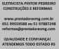 PEDREIRO, PINTOR, ELETRICISTA, PRESTADORA, CONSTRUTORA, EMPREITEIRA, COLOCAÇÃO DE PISOS
