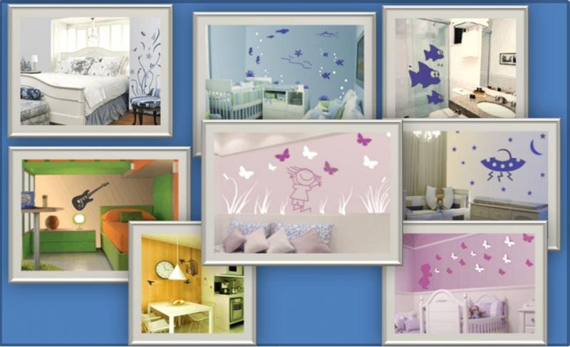 Alguns exemplos de decoração de ambientes...