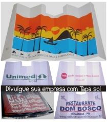 Tapa sol em papelão ecologico. impressão em serigrafia. material reciclavel!