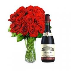 Floresnaweb - rosas e vinho