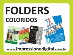 Folders, flyers, panfletos, folhetos, filipetas