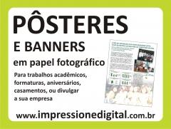 Pôster e banner em papel fotográfico