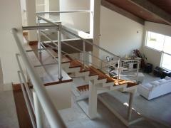 corrimão de escada em aluminio fosco