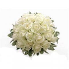 Floresnaweb - bouquet de noivas com rosas brancas