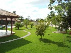 área verde da pousada surucuá - bonito/ms