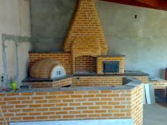 Trio completo frizado churrasqueira, forno ferro, fogão, forno de pizza.