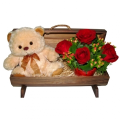Floresnaweb -   Baú de Flores e Urso
