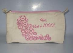 Promoção dia das Mães, Nesceser em material ecologico Só R$6,50 a Unidade Minimo 100pçs