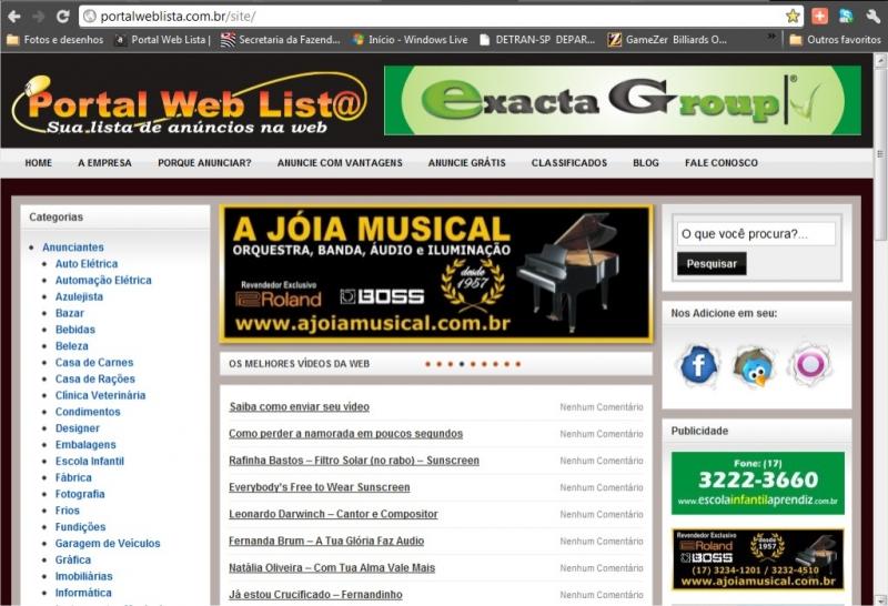 Portal Web Lista