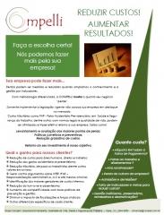 Folder redução de gastos para as empresas