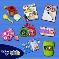 Produtos personalizados com foto e tema da festa