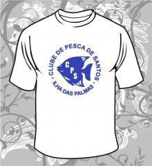 Camiseta gola careca  cor: branca   meia malha 100% algodão - fio 30.1 penteado