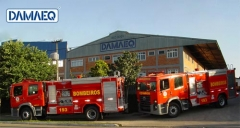 Entrega de frota de caminhões de bombeiro