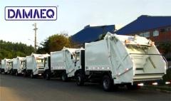 Entrega de frota de caminh�es de lixo ( coletores compactadores de lixo)