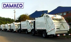Entrega de frota de caminhões de lixo ( coletores compactadores de lixo)