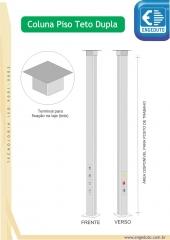 Colunas (postes condutores) em alum�nio para instala��es el�tricas e de rede (dados / voz).)