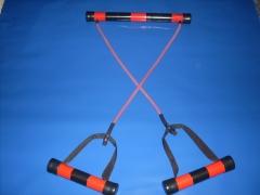 Simulador e alongador de exercícios com suporte para o pés