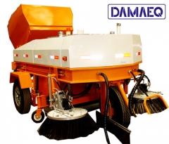 Varredora coletora mecânica rebocável - marca damaeq