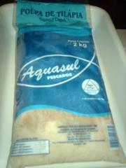 Produtos que podem ser elaborados com a  polpa de peixe: bolinho, empada, espetinho, pizza, empanados, esfiha, kafta, kibe, pastel, etc.