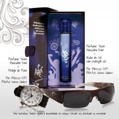 Kit Ares Moda - relógio e óculos