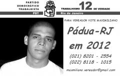 Para Vereador vote em Maximiliano em 2012.