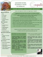 Folder segurança e saúde ocupacional - grupo compelli