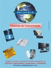 Prestação de serviços em elétrica, telefonia, segurança eletrônica e informática