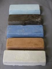 Massas abrasivas - azul, preta, marrom, bege, branca, vermelha e sebo
