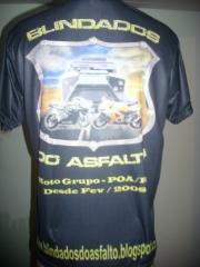 Camiseta de motoclube sublimada