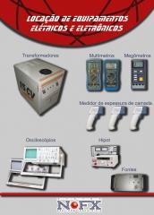 Locação de equipamentos elétricos e eletrônicos - todos aferidos e certificados - Montagem eletromecânica, manutenção, instalação elétrica e eletrônica, configuração, testes ponto a ponto, testes funcionais, testes dielétricos, testes de aderência de tinta, testes de espessura de camada de tinta, locação de mão de obra, locação de equipamentos, montagem de painéis elétricos, automação de máquinas, equipamentos, comércios e indústrias, instalações elétricas