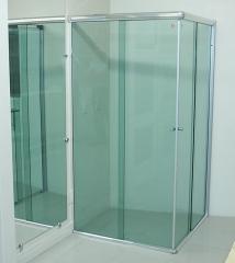 Box de vidro temperado 8mm verde