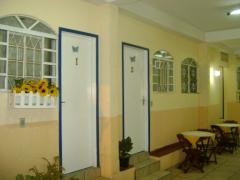 área social, café e entrada para os quartos 01 - 02  e 03