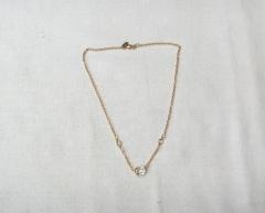 Colar corrente folheado ouro 18k com cristais swarovsky