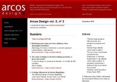 Revista acadêmica (versão digital) Arcos Design, da ESDI/UERJ