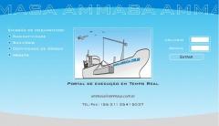 Site Ammasa (Versão inicial, 2007) empresa de logística de importação e exportação