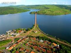Foto aérea - lago da uhe tucuruí