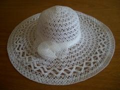 Chapéu praia imitando fibra de coco