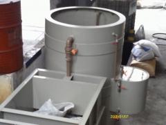 Separador com tanques e reator de quebra de emuls�o