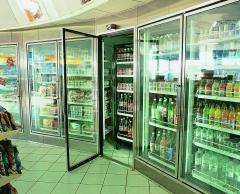Câmara frigoríficas com portas expositoras