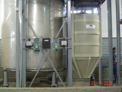 Pesagem em tanques, silos e moegas