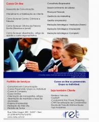 A ret oferece curso on-line e presenciais atualizados