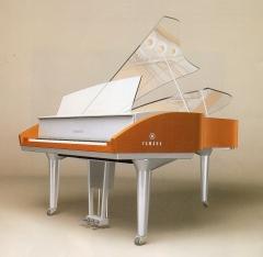 Piano em acrílico comemorativo da Steinway e Sons