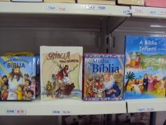 Temos bíblias católicas inclusive as infantis como mostra a foto.