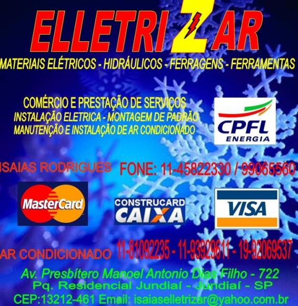 ELLETRIZAR MATERIAIS ELÉTRICOS HIDRÁULICOS FERRAGENS E FERRAMENTAS