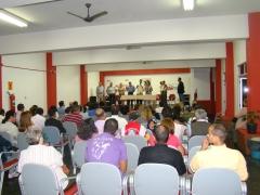 O auditório lotado mostra a importância do novo espaço para a cidade de Itu