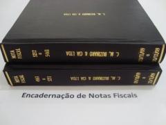 Encadernação fiscal.