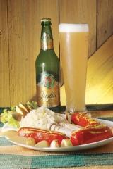 Mix de salsichões Austríacos acompanhado da cerveja Justos