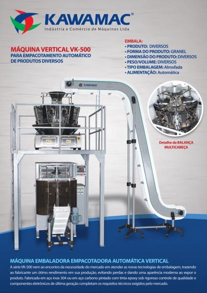 KAWAMAC - Embaladora vertical modelo VK-500 com acessorios