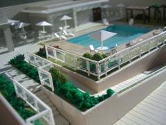 área de lazer predio residencial 1/100 projeto e maquete tom horikawa