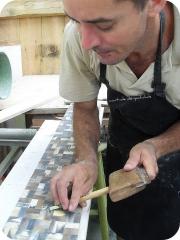 Pastilhado de chifre- vila arte